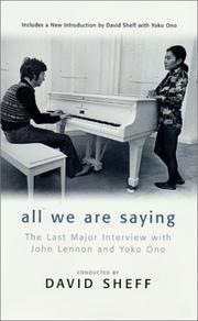 Cover of: All We Are Saying