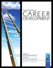 Cover of: Encyclopedia of career development | editors Jeffrey H. Greenhaus and Gerard A. Callanan.