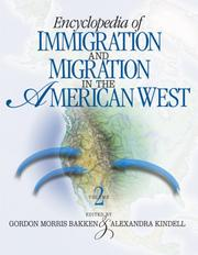 Cover of: Encyclopedia of immigration and migration in the American West