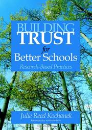 Cover of: Building Trust for Better Schools
