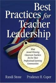 Cover of: Best practices for teacher leadership | Randi Stone