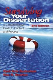 Cover of: Surviving Your Dissertation: A Comprehensive Guide to Content and Process (Surviving Your Dissertation: A Comprehen) | Kjell Erik Rudestam