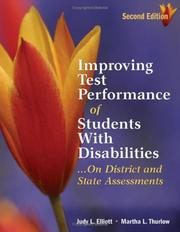 Cover of: Improving Test Performance of Students With Disabilities...On District and State Assessments | Judith L. Elliott