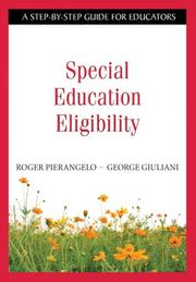 Cover of: Special Education Eligibility | Roger Pierangelo