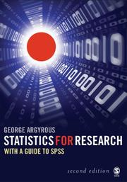 Statistics for Research by George Argyrous