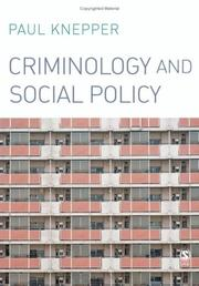 Cover of: Criminology and Social Policy