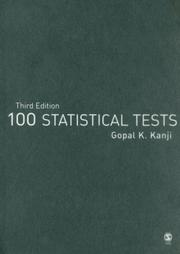 Cover of: 100 Statistical Tests | Gopal K. Kanji