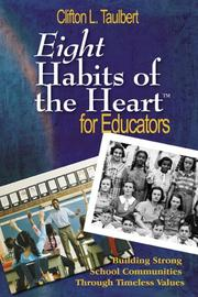 Cover of: Eight habits of the heart for educators