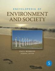 Cover of: Encyclopedia of Environment and Society