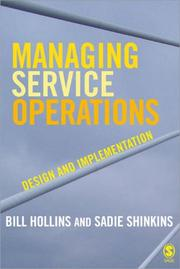 Cover of: Managing Service Operations | William J Hollins, Sadie Shinkins