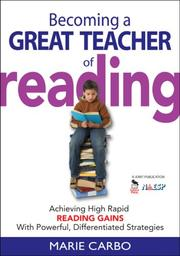 Cover of: Becoming a Great Teacher of Reading