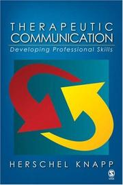 Cover of: Therapeutic Communication