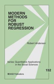 Cover of: Modern Methods for Robust Regression (Quantitative Applications in the Social Sciences) | Robert Andersen