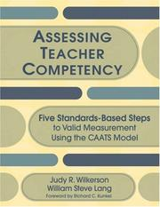 Cover of: Assessing Teacher Competency | Judy R. Wilkerson