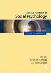 Cover of: The Sage handbook of social psychology