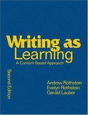 Cover of: Writing as Learning | Andrew S. Rothstein