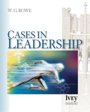 Cover of: Cases in Leadership