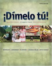 Cover of: Dímelo tú! |