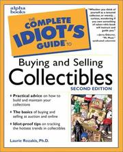 Cover of: The complete idiot's guide to buying and selling collectibles