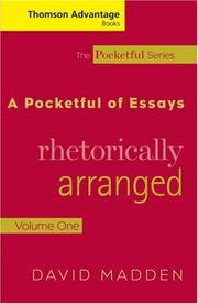Cover of: Thomson Advantage Books: A Pocketful of Essays | David Madden