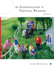 Cover of: An Introduction to Critical Reading