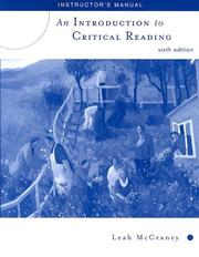 Cover of: Introduction to Critical Reading