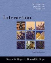 Cover of: Interaction | Susan S. St. Onge, Ronald St. Onge
