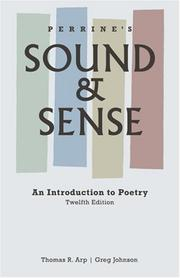 Cover of: Perrine's Sound and Sense: An Introduction to Poetry (Perrine's Sound & Sense: An Introduction to Poetry)
