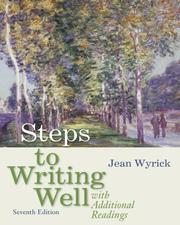 Cover of: Steps to Writing Well with Additional Readings | Jean Wyrick