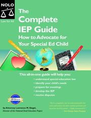 Cover of: The complete IEP guide | Lawrence M. Siegel