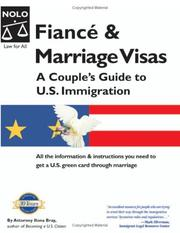 Cover of: Fiance & Marriage Visas