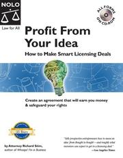 Cover of: Profit from your idea | Richard Stim