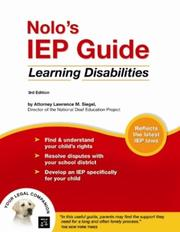 Cover of: Nolo's IEP Guide