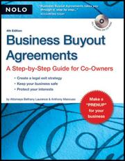 Cover of: Business Buyout Agreements: a step-by-step guide for co-owners