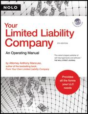 Cover of: Your limited liability company: an operating manual