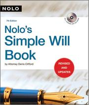 Nolo's simple will book by Denis Clifford