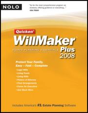 Cover of: Quicken Willmaker Plus | Editors of Nolo