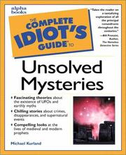 Cover of: The complete idiot's guide to unsolved mysteries