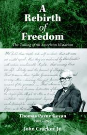 Cover of: A Rebirth of Freedom | John Crocker