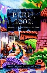 Cover of: Memoirs of a Writer in Peru