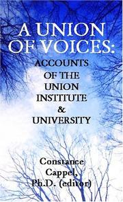 Cover of: A Union of Voices | Constance Cappel