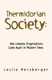 Cover of: Thermidorian Society