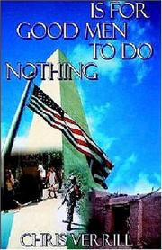 Cover of: Is For Good Men To Do Nothing