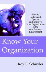 Cover of: Know Your Organization