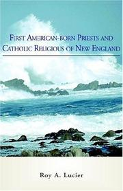 Cover of: First American-born Priests