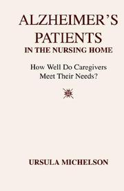 Cover of: Alzheimer's Patients in the Nursing Home