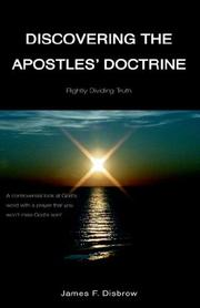 Cover of: Discovering the Apostle's Doctrine