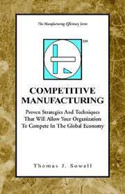 Cover of: Competitive Manufacturing