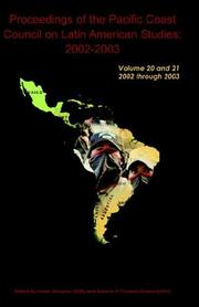 Cover of: Proceeding of the PCCLAS 2002-2003