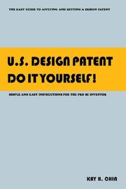 Cover of: U.S. Design Patent Do It Yourself!